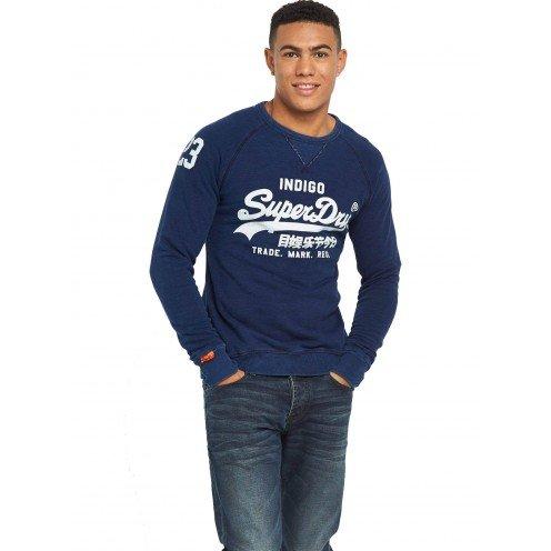 Superdry Herren Sweatshirts & -Hosen Vintage Logo True Indigo Crew