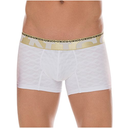 7f40a629f3 Mundo Unico Men Colombian Solid Microfiber Short Boxers Briefs Jaquard  Calzoncillos White XL