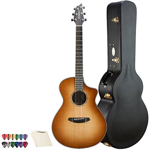(Breedlove Premier Concert CE Sitka-Rosewood Acoustic-Electric Guitar with 12 Pick Sampler & Polish Cloth, Copper Burst)