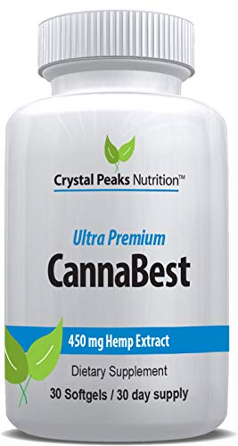 CannaBest | All-Natural Hemp Extract Softgels | Relieve Stress, Anxiety, Inflammation, Pain, Insomnia | Includes Omega 3…