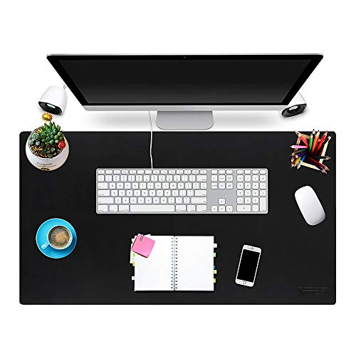 (Multifunctional Office Desk Pad 31'' x 17'', NPET P10 Ultra Thin Waterproof PU Leather Mouse Pad, Extended Large Mat with Non-Slip Rubber Base, Dual Use Desk Writing Mat for Office/Home)