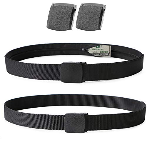 Travel Security Money Belt with Hidden Money Pocket - Cashsafe Anti-Theft Wallet Unisex Nickel free Nylon Belt by ()