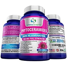 Supreme Potential Phytoceramides to Combat Aging & Dull Skin - 700mg - 200 Capsules - 100 Day Supply - Manufactured in USA. (1)