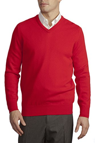(Great & British Knitwear Men's HM100 100% Lambswool Plain V Neck Sweater. Made in Scotland-Regal)
