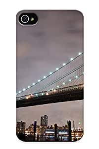 Catenaryoi Scratch-free Phone Case For Iphone 4/4s- Retail Packaging - Brooklyn Bridge
