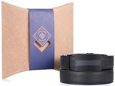 Gallery Seven Mens Leather Ratchet Belt - Adjustable Click Belt for Men