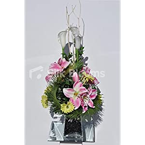 Spring Floral Display w/ Pink Amaryllis and White Calla Lillies 56