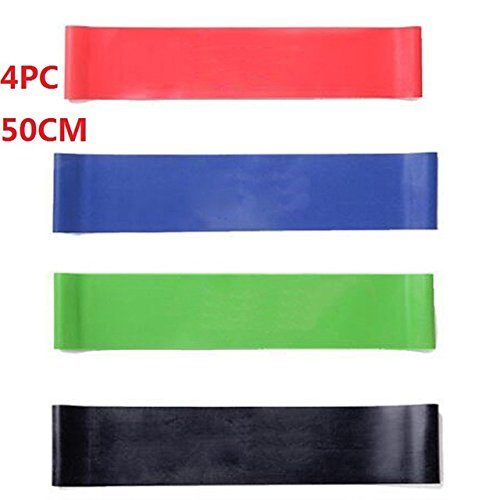 Resistance Bands Exercise Bands Workout Bands - 4pcs/SET 50cm Resistance Bands Yoga Fitness Training Latex Rubber Fitness Gym Strength Practical elastico para exercicios(4PC 50cm ) - Office Starwood