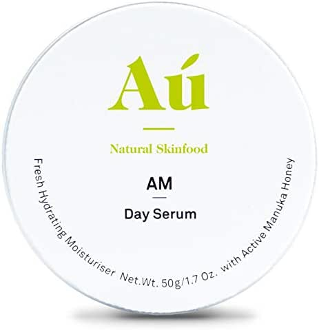 AM Day Serum by Au Natural Skinfood | Fresh all-day protection | Moisturiser with 16+ Manuka Honey | Certified | Food For Your Skin | All Skin Types | 1.7 oz