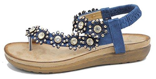 Boulevard - Zapatos con correa de tobillo mujer Azul - azul