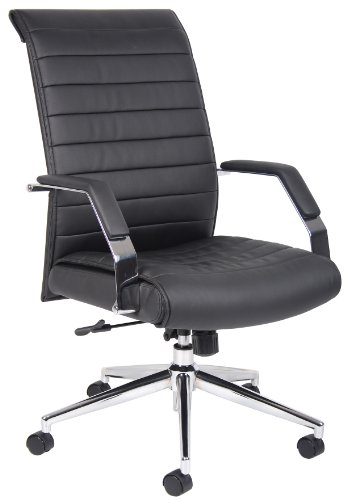 (Boss Office Products B9441 Executive High Back Ribbed Chair in)