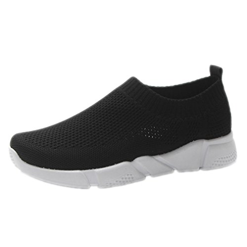 Woman Sock Sneakers Light Sports Socks Walking Sport Shoe Black 6