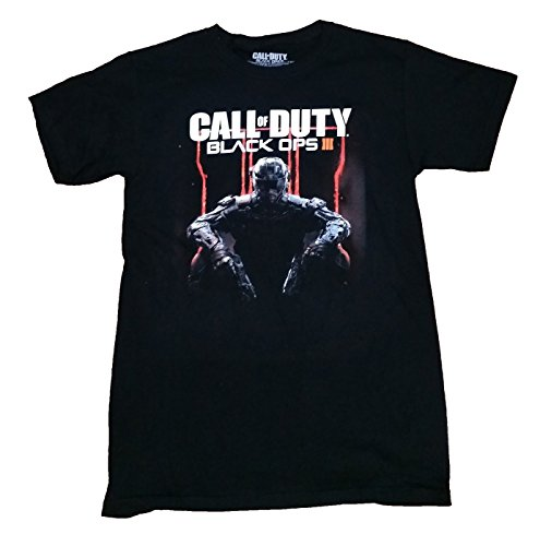 Call of Duty Black Ops 3 Character Logo Adult T-Shirt Large (Ops Shirt Black)