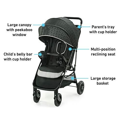 41kOyEU2PLL - Graco NimbleLite Travel System | Includes Lightweight Stroller And SnugRide 35 Lite Infant Car Seat, Parent Storage, Compact Fold | Lightweight Stroller Under 15 Pounds, Frisco