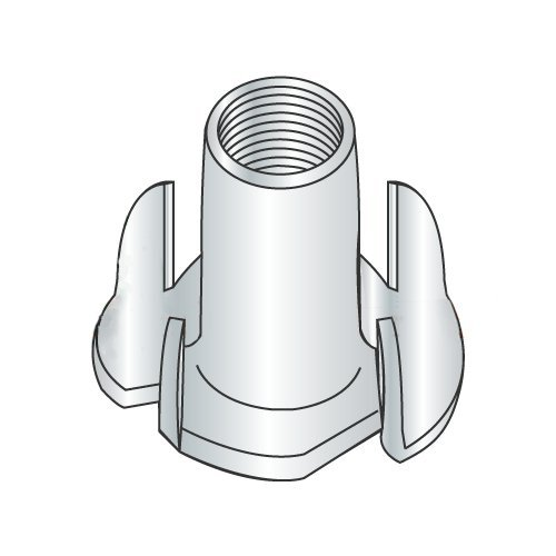 10-32 X 5/16'' 4 Prong Tee Nuts/Steel/Zinc (Carton: 2,000 pcs)