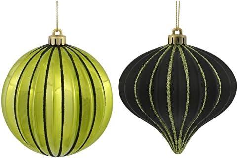 Vickerman Navidad Cebolla y balón de Adornos navideños, Verde, 4 ...