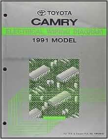 1991    Toyota       Camry    Wiring    Diagram    Manual Original     Toyota