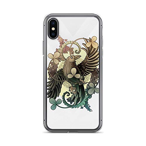 - iPhone X/XS Pure Clear Case Cases Cover Raven Vintage Folk Art
