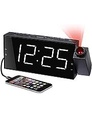 Mesqool Projection Alarm Clock Radio