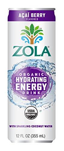 Zola Organic Hydrating Energy Drink Acai Berry 12 Ounce