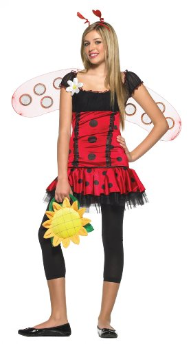 Lets Party By Leg Avenue Daisy Bug Teen Costume / Red - Size Small/Medium ()