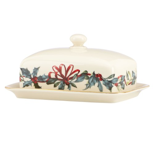 Lenox Winter Greetings Covered Butter,Ivory