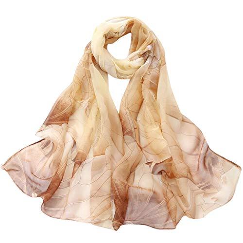 HYIRI Face Mask Fashion Women Lotus Printing Long Soft Wrap Scarf Ladies Shawl - Cathedral Thermal Vest