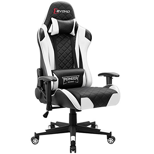 Devoko Racing Style Gaming Chair Height Adjustable Swivel PC Computer