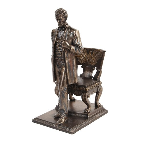 Abraham Lincoln Figurine Standing near Chair with Eagle for sale  Delivered anywhere in USA