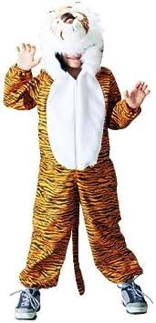 Foxxeo 10068 | Tiger Kostüm für Kinder 86 - 122, Größe:116/122