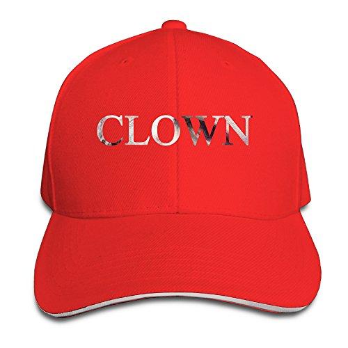 [ACMIRAN Clown Adjustable Sandwich Baseball Caps One Size Red] (Pepsi Costume Halloween)