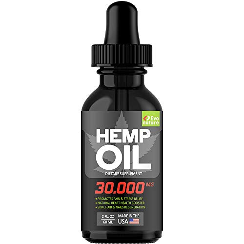 Hemp Oil 30000MG - Extra Strength for BIO-Efficacy - 100% Natural & Safe Hemp Extract - Pain, Stress & Anxiety Relief - Made in USA - Anti Inflammatory & Immunity Support - Deep Sleep & Mood Boost