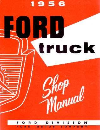 amazon com 1956 ford pickup truck shop service repair manual book rh amazon com Ford Tractor Repair Manual Ford Truck Wiring Diagrams