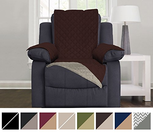 The Original SOFA SHIELD Reversible Couch Slipcover Furniture Protector, 2 Inch Elastic Strap, Machine Washable, Cover Perfect for Pets, Seat Width Up to 30