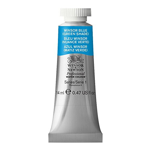 Winsor & Newton Professional Water Colour Paint, 14ml tube, Winsor Blue (Green Shade)