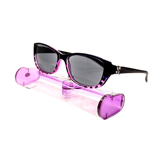 Sun Readers Reading Sunglasses (New Fashion Designer Women Sun Readers Sunglasses Reading Glasses Purple Grape Transparent ( Magnification Strength: + 2.25))