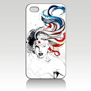 Wonder Woman Hard Case Skin for Iphone 4 4s Iphone4 At&t Sprint Verizon Retail Packing. by icecream design
