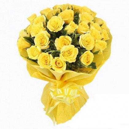 Floralbay Special Yellow Roses Bouquet Of Fresh Flowers In Paper