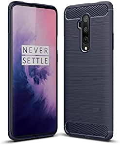 For Oneplus 7T Pro Case, Flexible TPU Lines, Blue