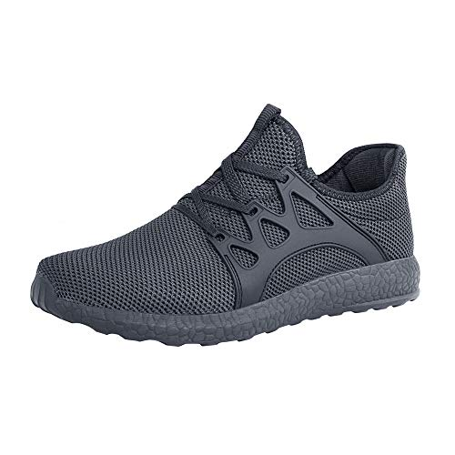 ZOCAVIA Men's Sneakers Ultra Lightweight Breathable Mesh Casual Walking Running Shoes - 11 M US Dark Grey