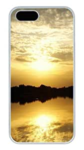 iPhone 5S Cases and Covers,Dusk Beauty Custom Slim Hard Case Snap-on PC Plastic Case Cover Shell for Apple iPhone 5S/5 White