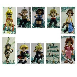 Final Fantasy Christmas.Unique Set Of 10 Final Fantasy Christmas Tree Ornaments