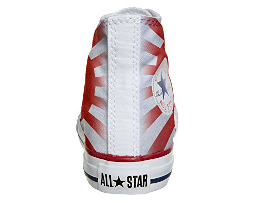 Converse All Star Hi Personnalisé et Imprimés chaussures coutume, Sneaker Unisex (produit Italien artisanal) drapeau du Japon