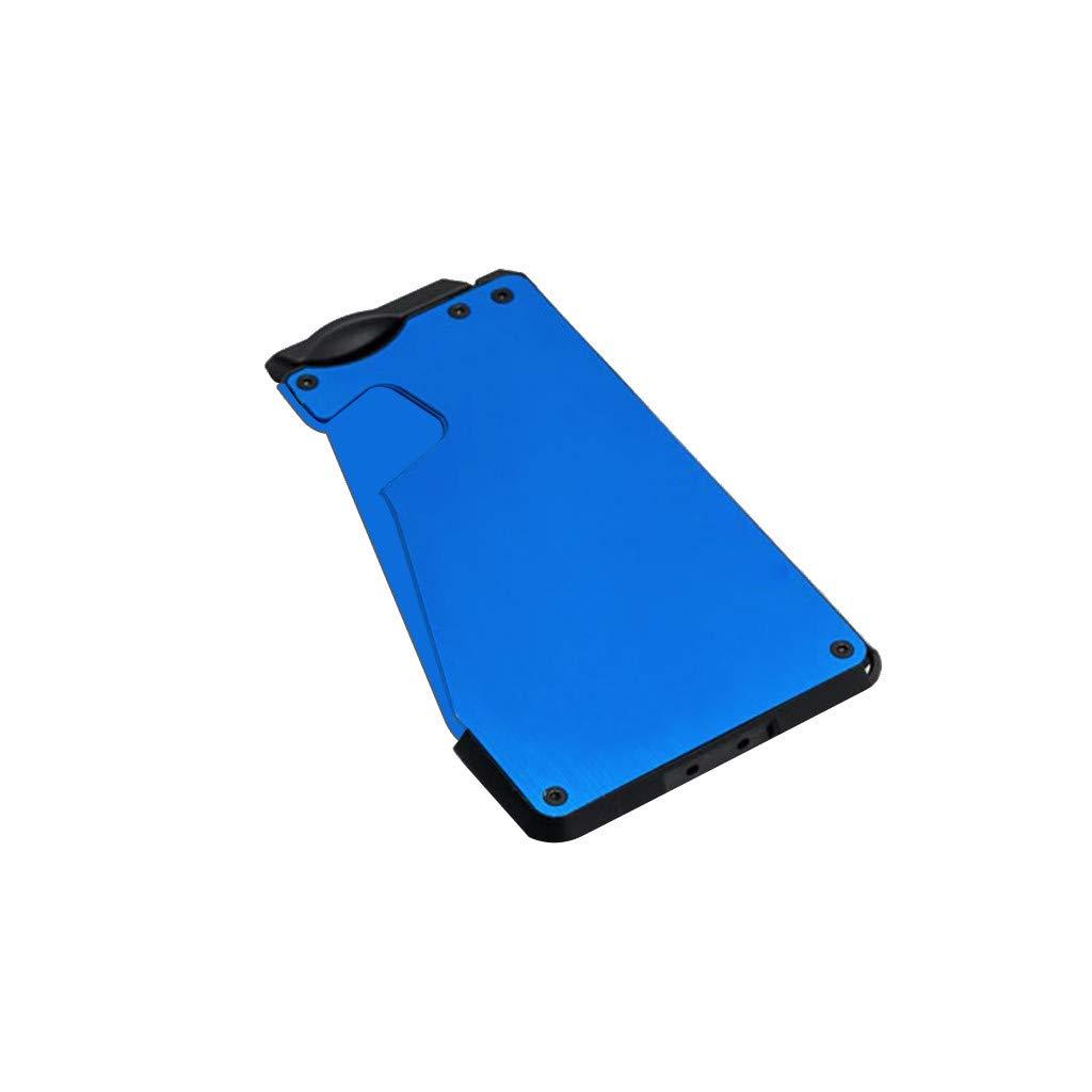Clearance!!! Credit Card Holder Case Carbon Fiber Slim Card Holder Wallet Protector Blocking Money Clip for Men Women (Blue) by iSkylie (Image #1)