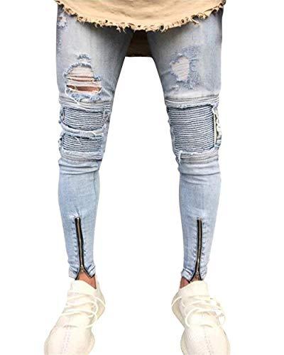 Elasticizzati Con Vestibilità Da Aderenti Pantaloni Casual Jeans Ragazzi Regular Skinny In Uomo Hellblau Denim Classiche 8zq7xwHdx