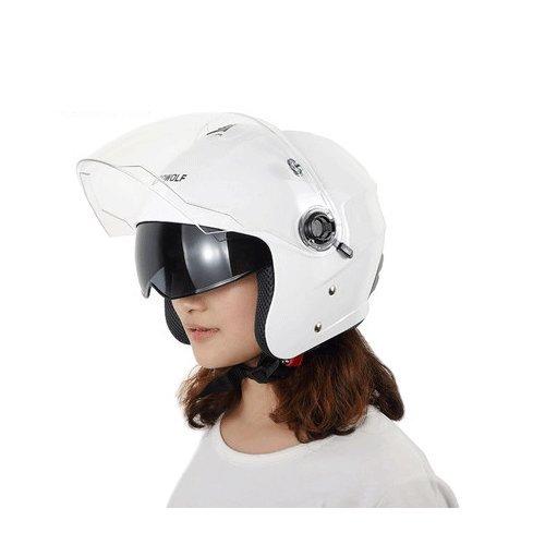 JIAN Helm Sicherheit Komfort Vier Jahreszeiten Universal Atmungsaktiv Outdoor-Sport Abnehmbar,Weiß