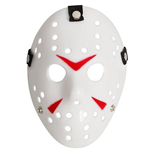 Jason Costume Amazon (Costume Mask Prop Horror Hockey Halloween Myers (Adult (One Size), White))