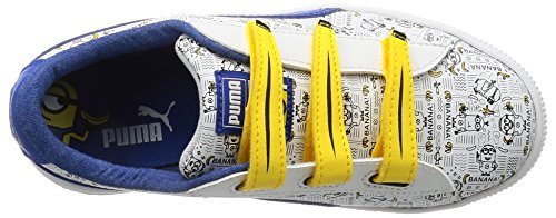 Puma Minions Basket V PS, Zapatillas Unisex Niños Blanco (White-lapis Blue)
