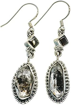 Red Onyx Irregular Gemstone Shape 925 Sterling Solid Silver Earrings Jewelry
