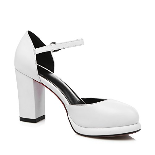 AdeeSu Femme SLC04083 Blanc Sandales Compensées RrPAwqnR